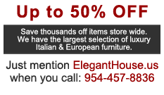 50 Percent off sale on all furniture