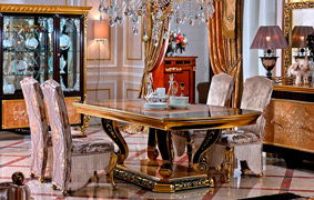 Luxurious furniture with classic European style